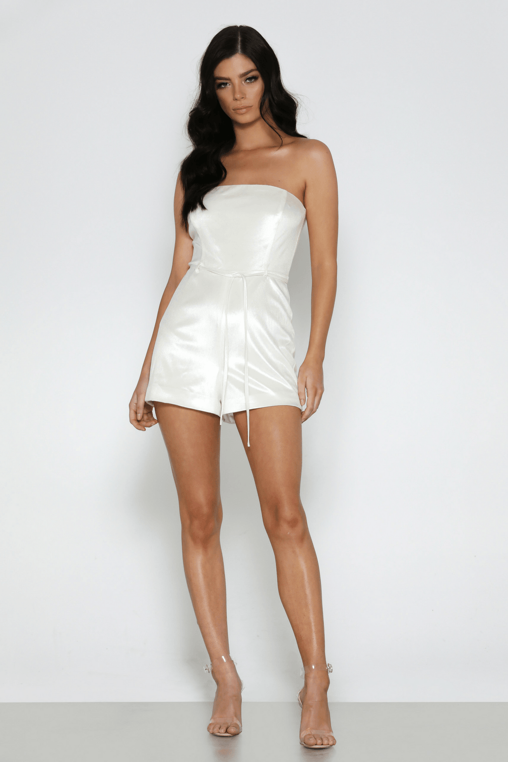 Nova Playsuit in White - Bad AF Fashion
