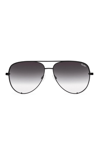 Quay x Desi High Key Sunglasses in Black/Smoke - QUAY AUSTRALIA