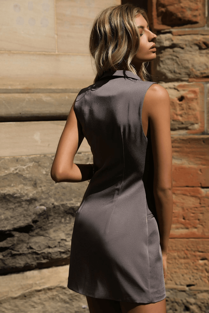 Luxe Tuxe Dress - Runaway The Label