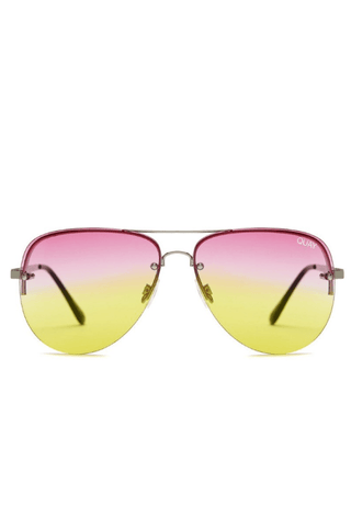 Muse Fade Sunglasses in Silver/Pink/Yellow - QUAY AUSTRALIA