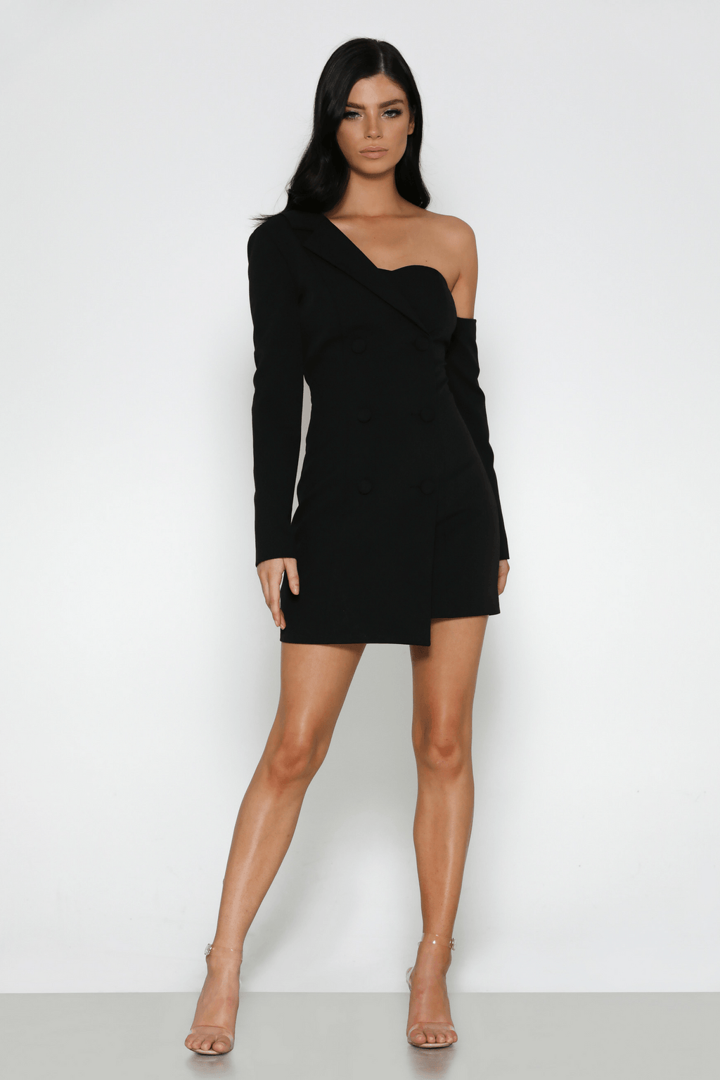 Celine Blazer Dress In Black