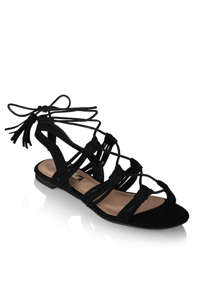Daya Sandals in Black - Billini Shoes