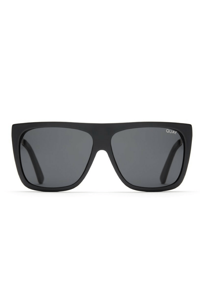 Quay x Desi OTL II Sunglasses in Black/Smoke - QUAY AUSTRALIA