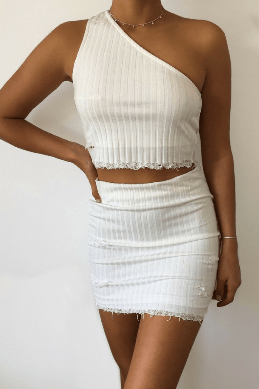 Bobbi Crop Top in White - B X RUNAWAY