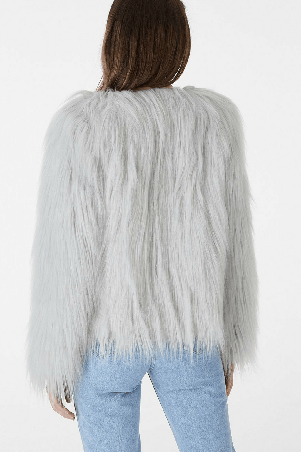 Marmont Faux Fur Jacket in Light Grey
