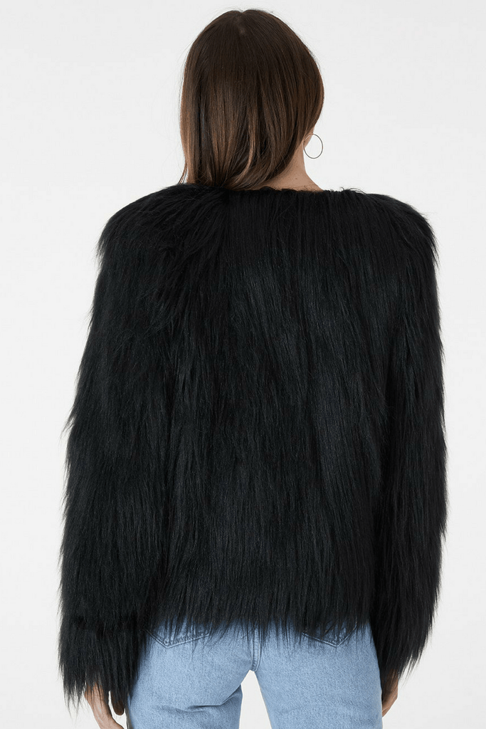 Marmont Faux Fur Jacket in Black