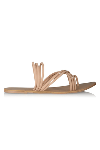 Clio Slides in Nude Nubuck - Billini Shoes