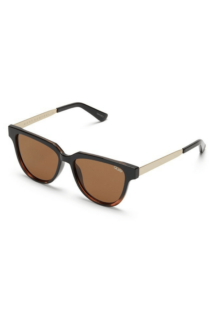 Prime Time Sunglasses in Black/Tort - QUAY AUSTRALIA