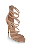 Vanetia Heels in Nude Nubuck - Billini Shoes
