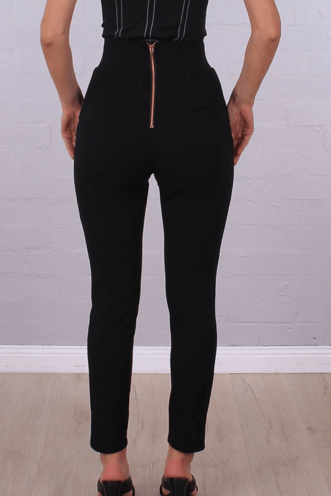 Revolve High Waisted Pants In Black