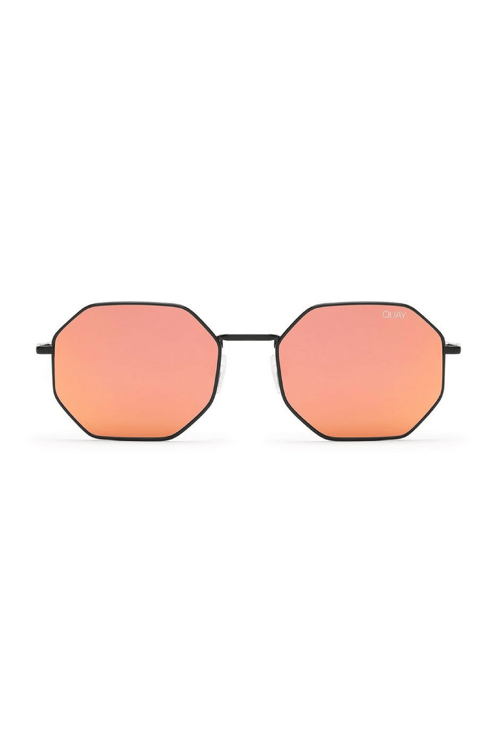 On A Dime Sunglasses in Black/Red Mirror - QUAY AUSTRALIA