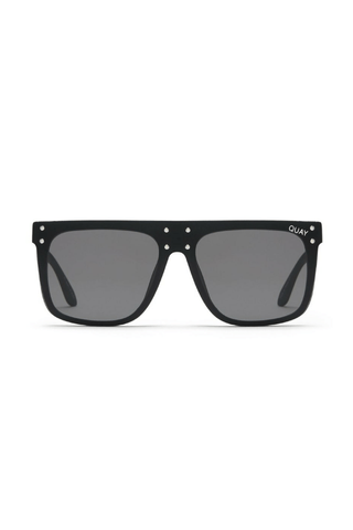 Quay x Kylie Hidden Hills Sunglasses in Black/Smoke - QUAY AUSTRALIA
