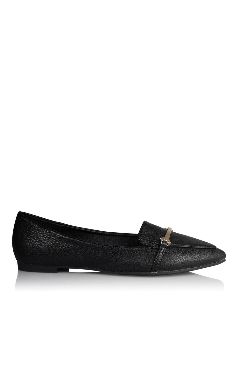 Vallie Black Pebble Flats- Billini Shoes