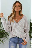 Double Cross Knit Top In Sand
