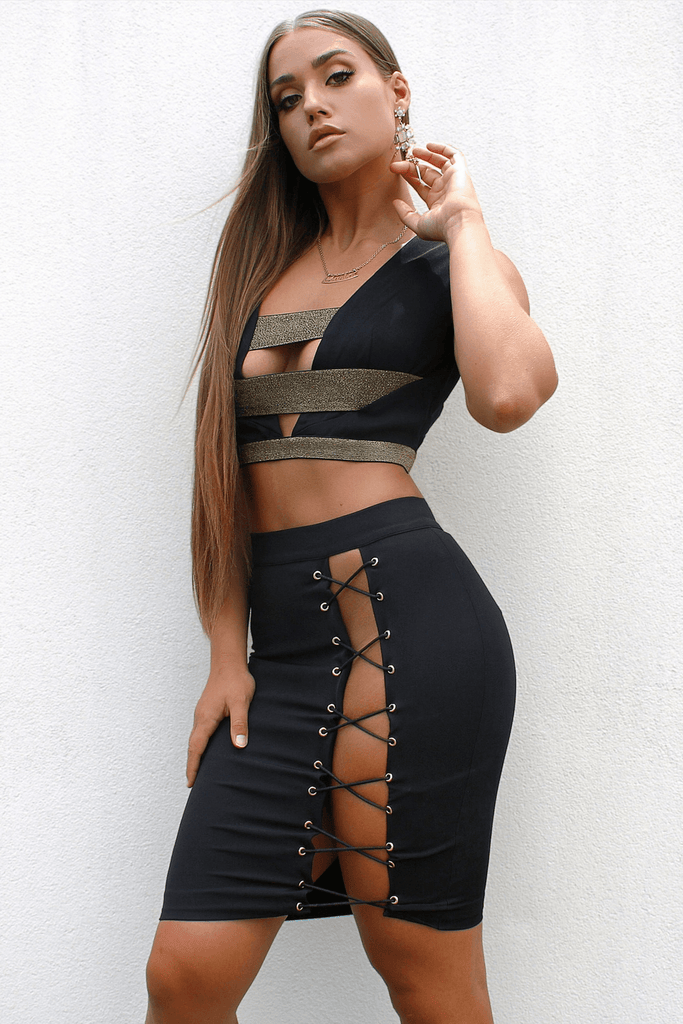 Diva skirt In Black - Bad AF Fashion