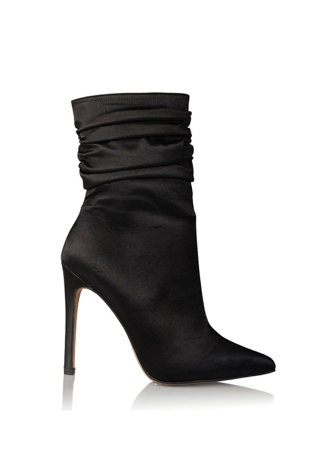 Fluer Boots in Black Satin- Billini Shoes
