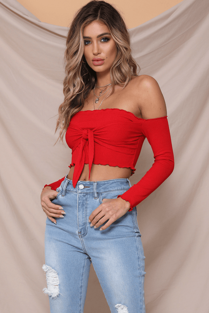 Jennifer Top In Red