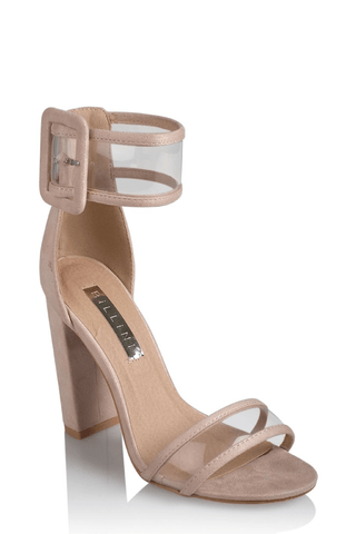 Lexi Heels in Blush Suede