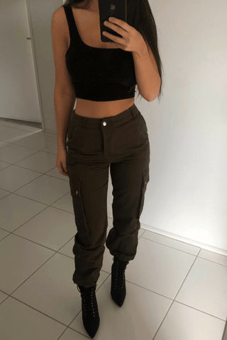 Bambi Cargo Pants In Cream
