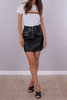 Idol Black Vegan Leather Skirt