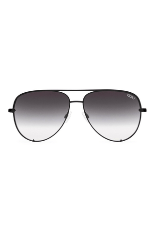 Quay x Desi High Key MINI Sunglasses in Black - QUAY AUSTRALIA