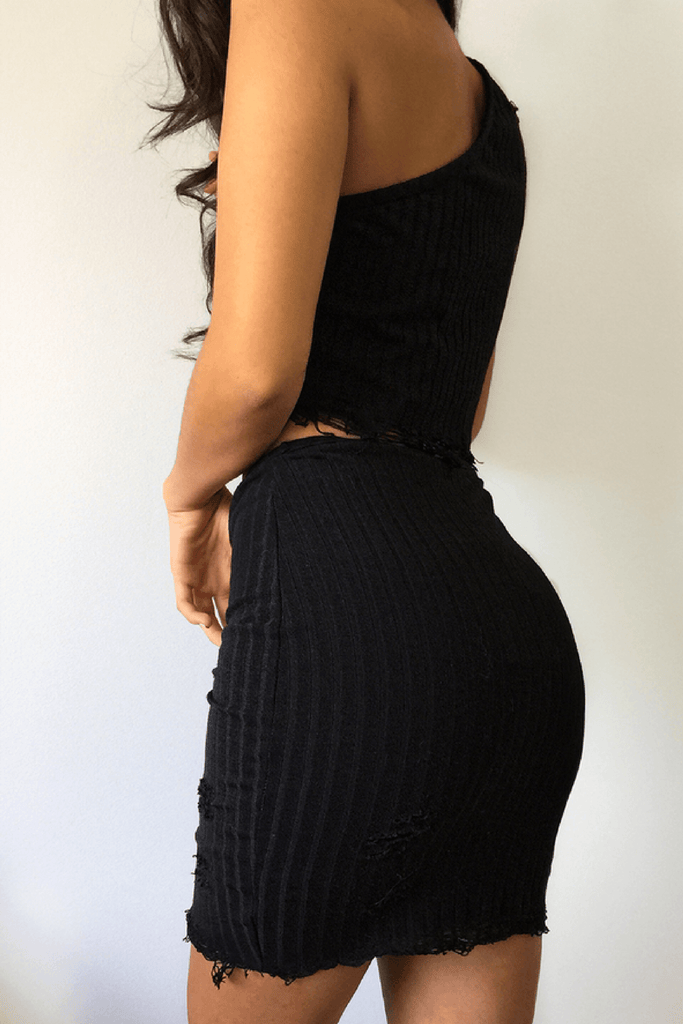 Bobbi Mini Skirt in Black - B X RUNAWAY