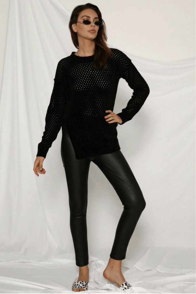 Coyote Black Leather Pants