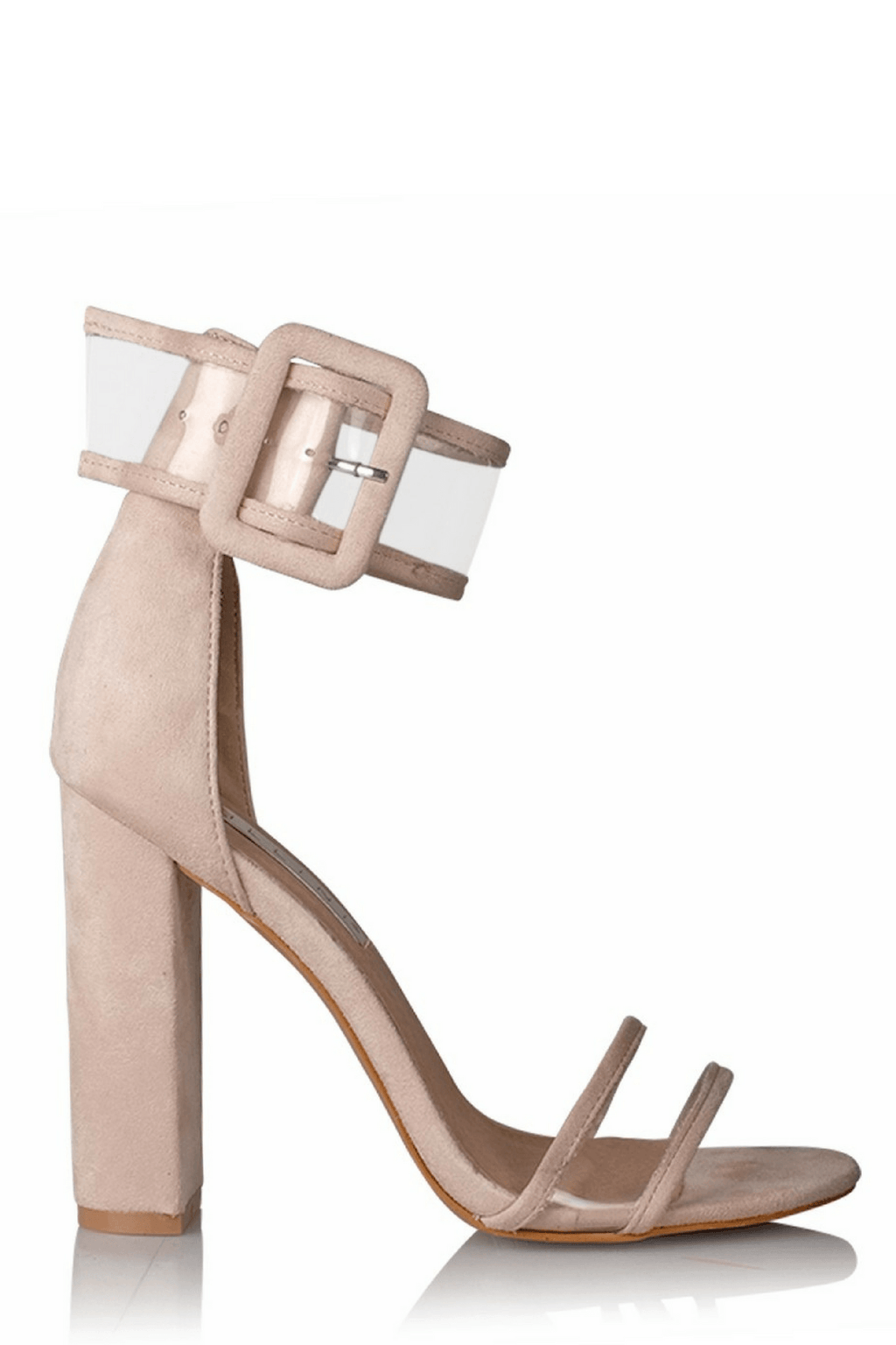 Lexi Heels in Blush Suede - Billini Shoes