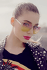 Muse Fade Sunglasses in Silver/Pink/Yellow