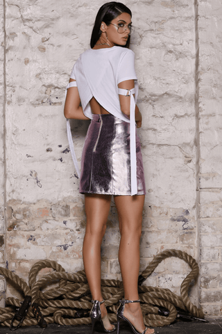 Byron Mini Skirt in Berry - B X RUNAWAY