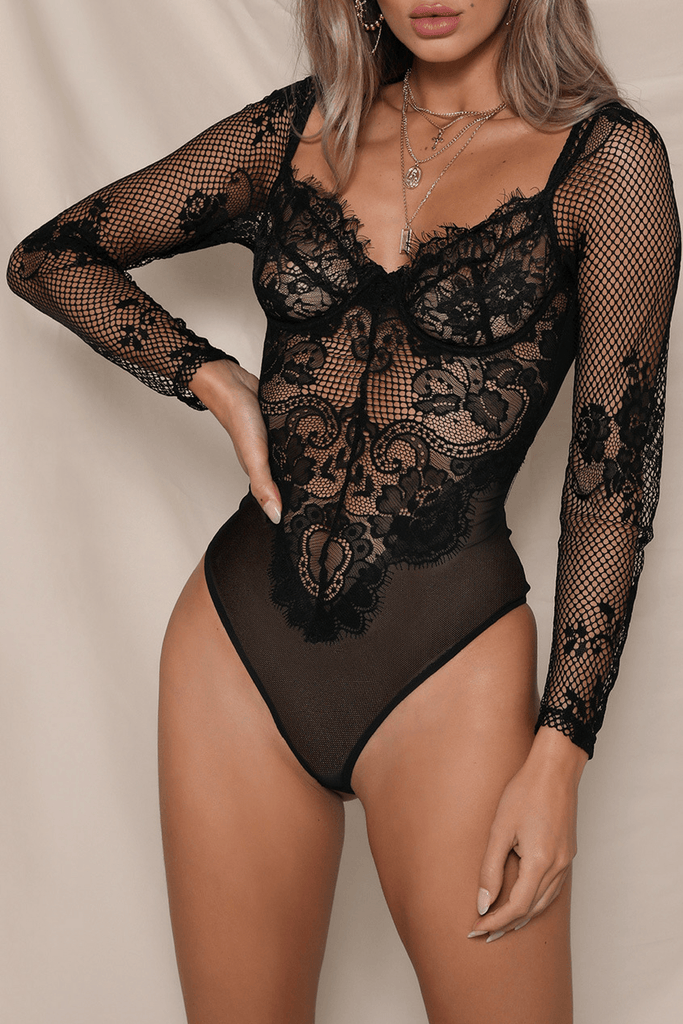Danielle Bodysuit in Black
