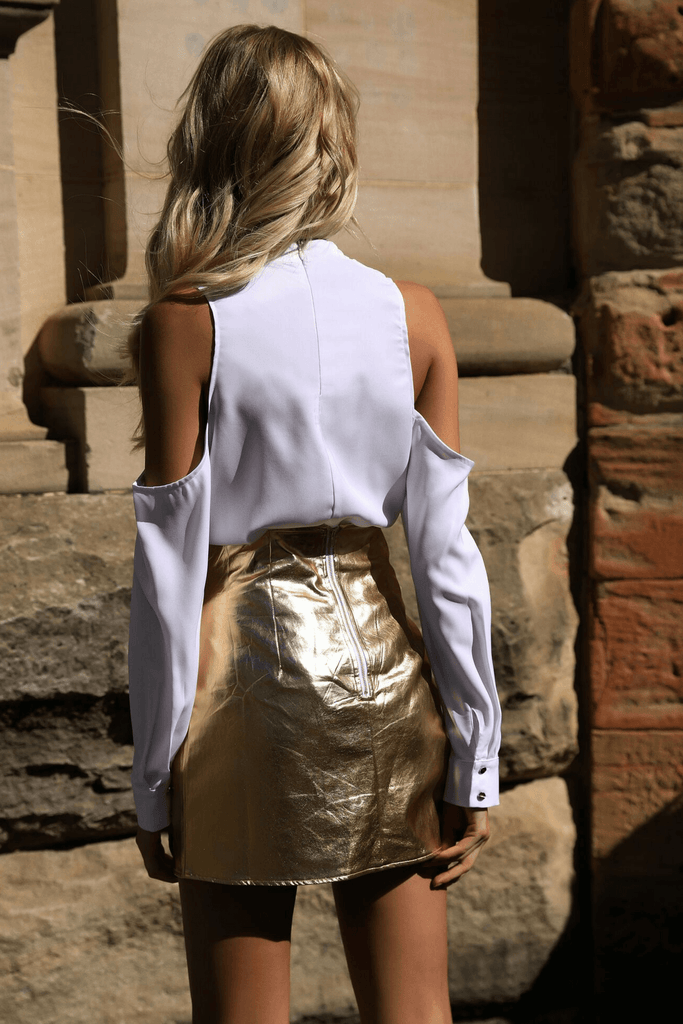Assassin Skirt in Gold - Runaway The Label