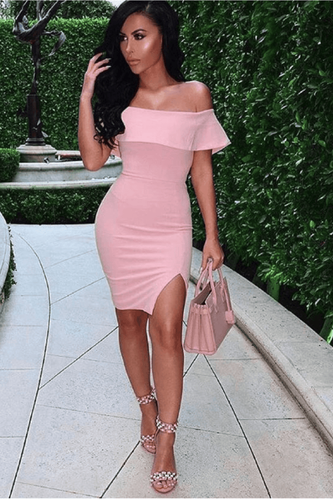 Lady in The Streets Dress in Blush Pink bad af fashion