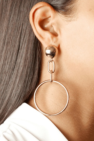 Alessandra Hoop Earrings - Jolie & Deen