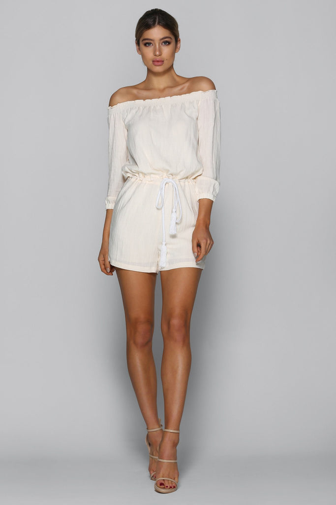 asha playsuit in sand bad af fashion