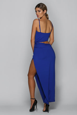 Trouble Maker Maxi Dress in Electric Blue