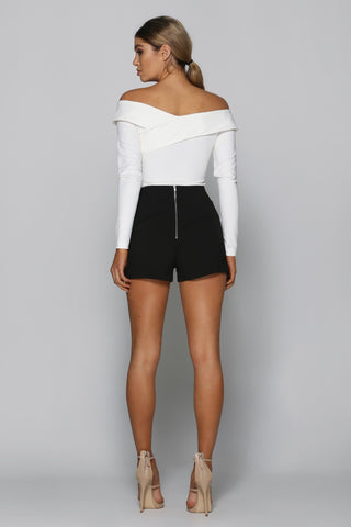 Bad Company Mini Shorts in Black