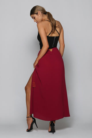 Juliet Maxi Skirt in Wine
