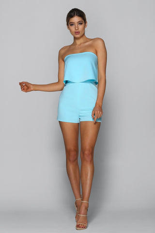 Hot Summer Playsuit in Baby Blue