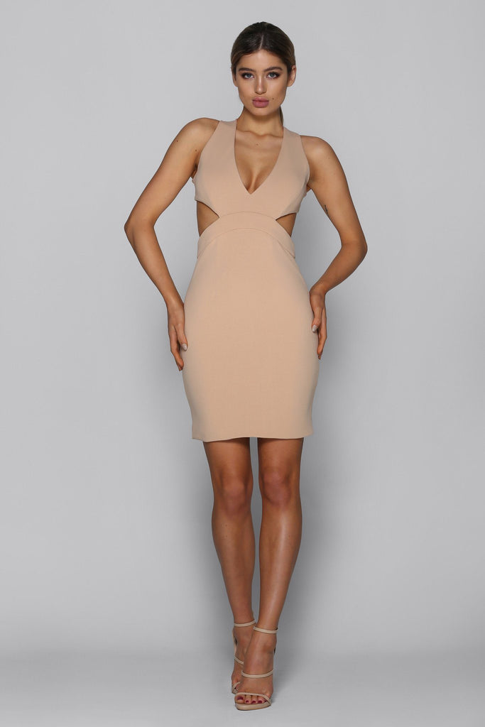 Marcella Dress in Nude bad af fashion