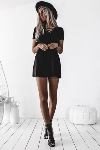 Clara Shift Dress in Black