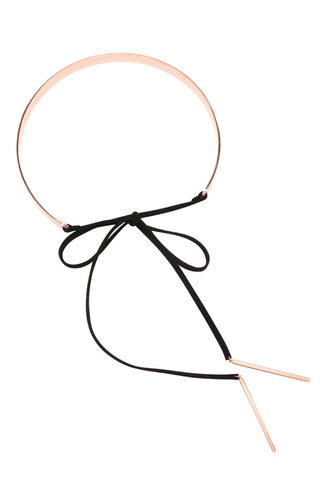 Selena Metal & Leather Choker - Jolie & Deen