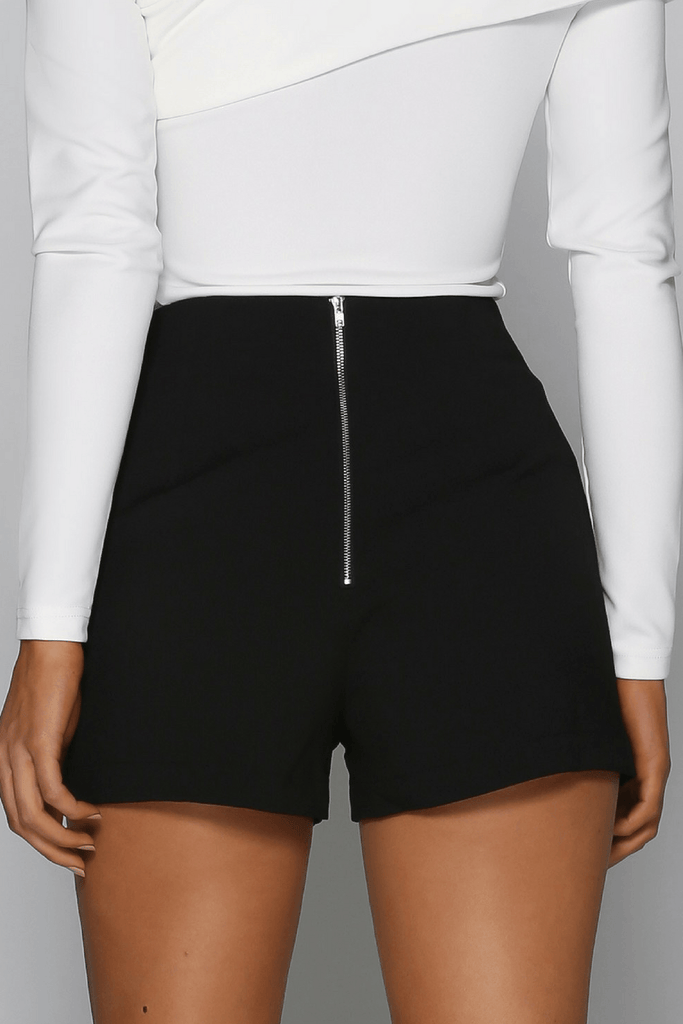 Bad Company Mini Shorts in Black Bad AF Fashion