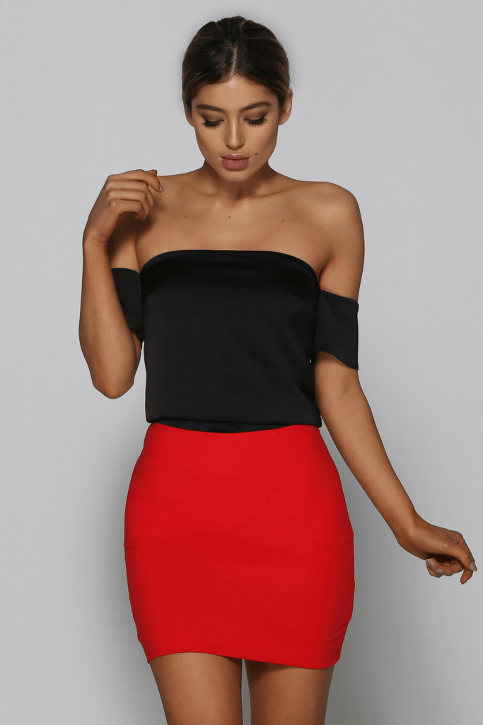 Kenza Skirt in Red bad af fashion