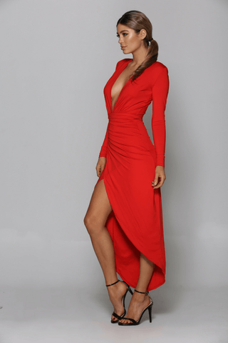 Valentine Dress in Red