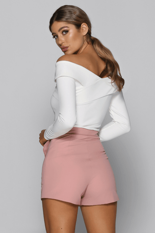 Sansa Shorts in Blush Pink