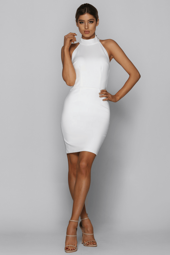 Opulent Dress in White