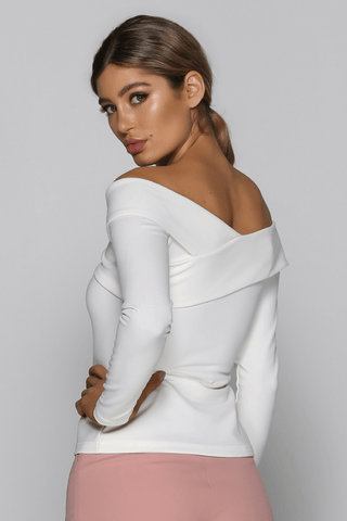Avia Off The Shoulder Top in White