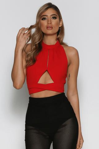 Elsa Bandeau Top in Black