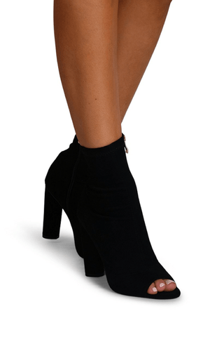 Thalia Heels in Black - Billini Shoes